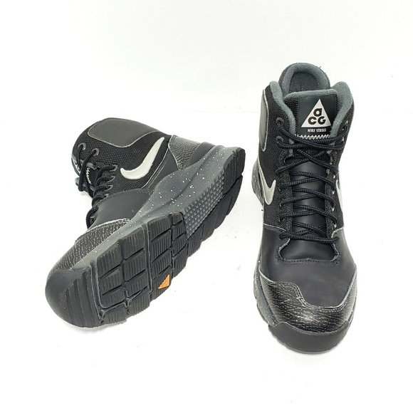 b88d0da9f17c5 Nike Stasis ACG Youth 5.5 Black Leather Boots